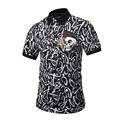 2017 Skull Printed Polo Shirt Men Harajuku Letter Tie Dye Shirt