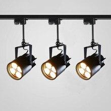 Thrisdar Loft Art Industrial Retro LED Track Lamp 15W 25W 35W Bar Clothing Store Spotlights Vintage Rail Light