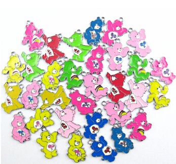 BELLE NOEL 20 Pcs Care Bear Metal Charm Pendants DIY