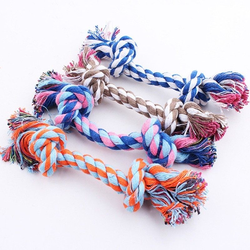 Colorful Puppy Pets Rope Toys Bite 3 Size Peluche Squeak Toys Dog Wool Toys Pet Puppy Chew Toys honden speelgoed