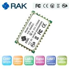 Модуль RAK811 LoRa, SX1276, 868/915 МГц, поддержка AS923 и LoraWan, с TELEC CE, FCC, KCC Сертификация/сертификация, 3000 метров