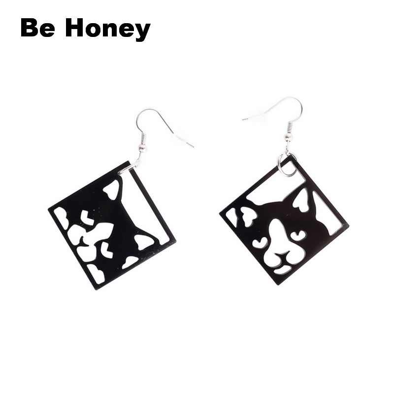 BAMOER Animal Collection Cute Napping Little Cat Drop Earrings for Women Gift