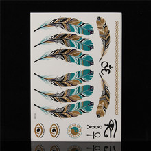 1PC Temporary Tattoos Gold Silver Metal Anchor Body Art Paint Tattoo Stickers Flash Metallic Sticker Eco-Friendly DIY Party