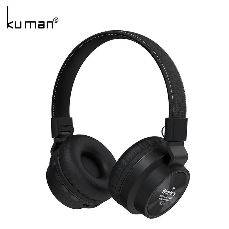 Kuman Sports Headsets Stereo Wireless Headphones HIFI Bluetooth Earphone with 3.5mm Conversion Line For Phone PC Gaming YL-HH6 gorsun e1 sports wireless bluetooth headsets stereo noise reduction earphone heavy bass folded headphones with microphone for pc