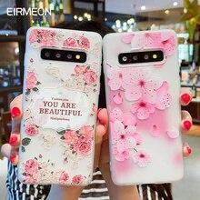 Funda para Samsung Galaxy S10 M10 M20 A30 A50 A7 A8 A6 J4 J6 UE edición 2018 S8 S9 S10 J3 J5 J7 A3 A5 A7 2017 S10 Lite flor caso