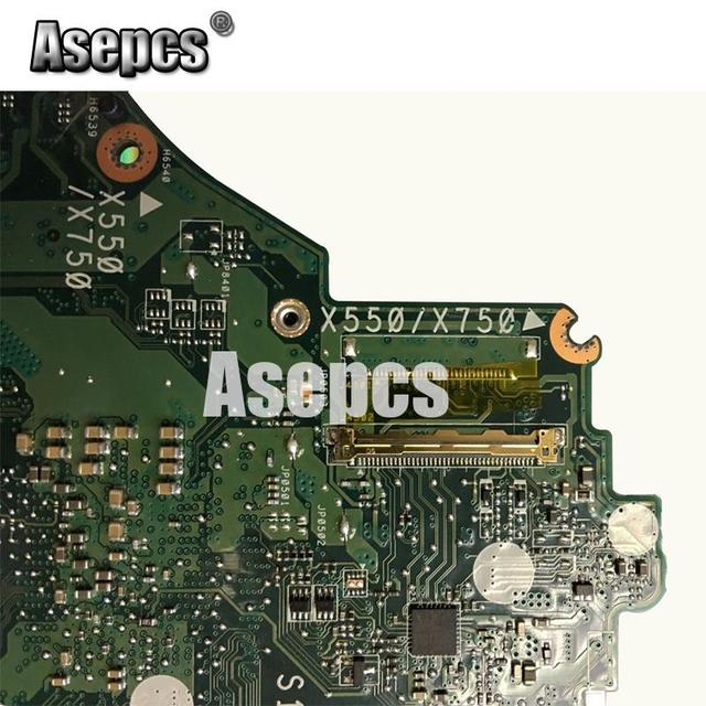 Asepcs X550ZA carte mère dordinateur portable pour Asus X550ZA X550ZE X550Z X550 K550Z X555Z VM590Z Test carte mère dorigine A10-7400P LVDS GM