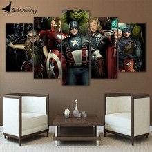 HD Printed The Avengers película Grupo Pintura Al Óleo sobre lienzo decoración de la habitación cartel foto lienzo enmarcado envío libre/Y053
