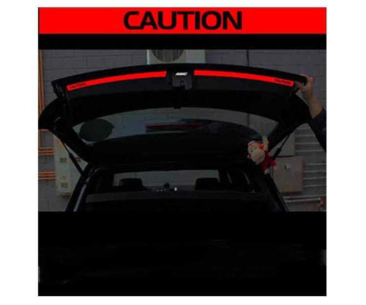 Aliauto 2 × 車のアクセサリートランクの車のステッカーとデカール反射安全警告ステッカーフォルクスワーゲンゴルフ 6 新ポロ