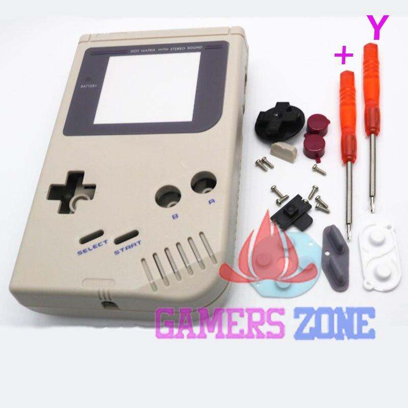 Para o Game Boy Game Boy Original Console Shell Habitação Case w Tela W/Chave De Fenda