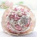 Великолепная свадебные цветы свадебные букеты жемчуг кристалл искусственные свадебный букет кристалл искра 2015 новый buque де noiva