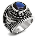 DC1989 US Air Force Men's Military Rings Stainless Steel 316 IP Gold Plated Montana Main Stone Environmental Material TK414708