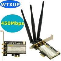 Atheros AR9380 AR5BXB12 PCI E Dual Band 900Mbps WiFi Adapter 3 X 6DBi SMA Antenna For