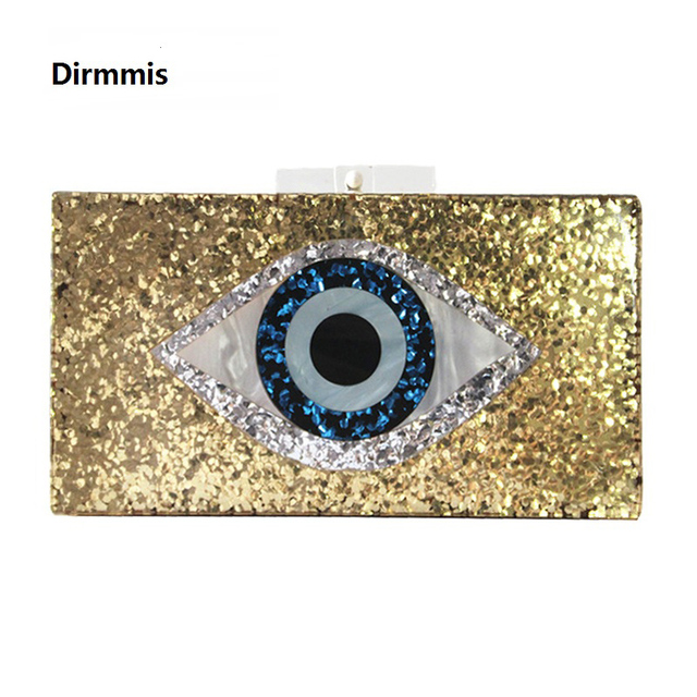 New Handbag Brand Fashion Wallet Women Messenger Bags Golden Eye Sequin Patchwork Luxury Party Prom Evening Bag Woman Clutch