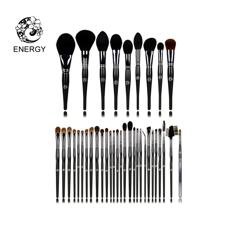 ENERGIA di Marca Professionale 37 pz Animale Capelli Spazzole di Trucco Make Up Brush Set Kit Brochas Maquillaje Pinceaux Maquillage FM37AW