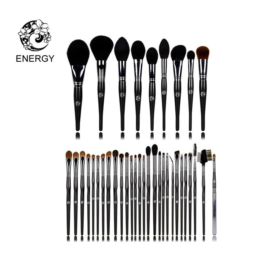 Marca ENERGIA 37 pcs Animal Cabelo Pincéis de Maquiagem Profissional Compo o Jogo de Escova Kit de Brochas maquiagem Maquillage Pinceaux FM37AW