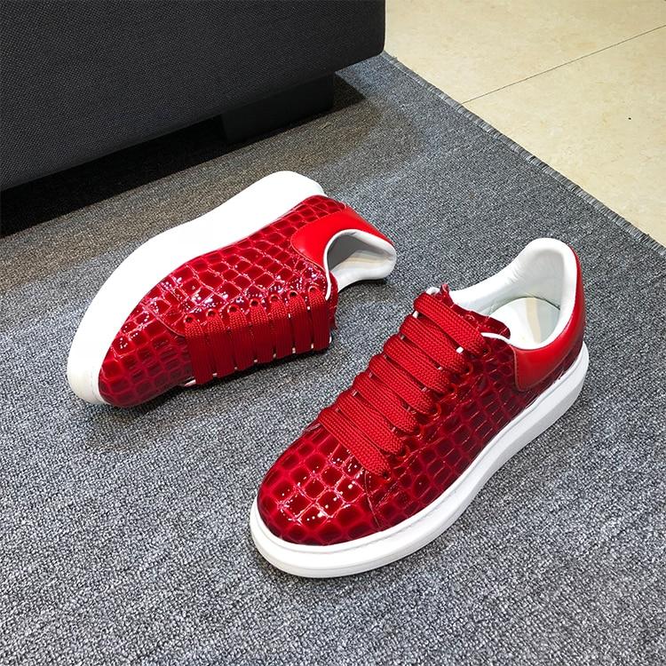 Cuir De Plate Dentelle Jusqu'à Automne forme as Sapato Dames En Sneakers Talons As Pic Feminino La Couple Printemps Chaussures Med Semelle Mujer Zapatos Pic Épaisse HZdfw