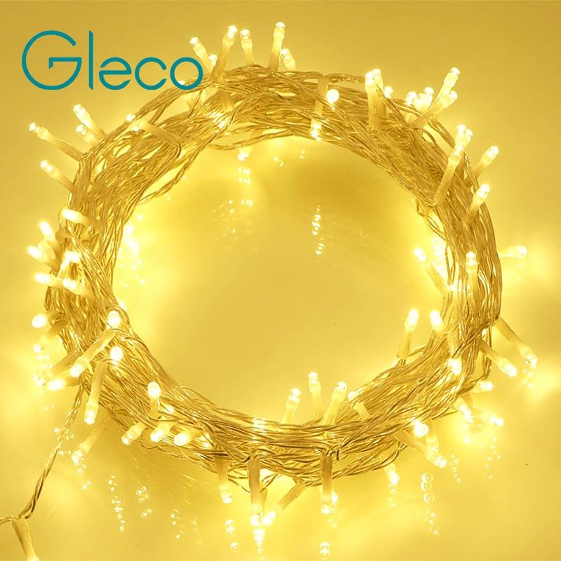 AC110/220V 10M 100LEDs 8 Modes LED String Light Christmas Light For Wedding Party Holiday Decoration Garland Fairy Xmas Light