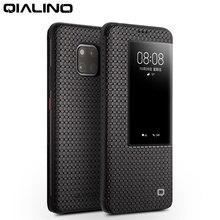 QIALINO Mode Echt Lederen Flip Case voor Huawei Mate 20 Stijlvolle Zakelijke Ultra Slim Smart View Telefoon Cover voor Mate20 pro
