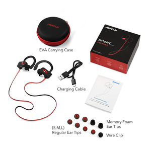 Image 5 - Original Mpow Flame Bluetooth Headphones HiFi Stereo Wireless Earbuds Waterproof Sport Earphones With Mic/Portable Carrying Case