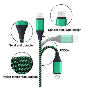 Image 3 - Micro USB Cable 2A Fast Charging Nylon USB Sync Data Mobile Phone Adapter Charger Cable For Samsung Sony HTC LG Android Cables