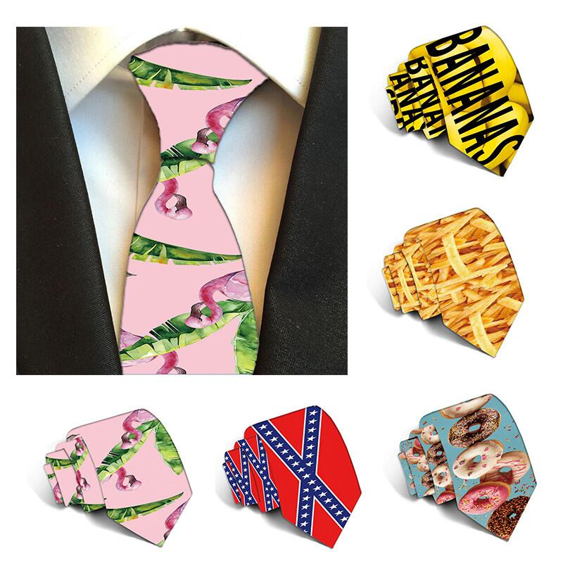 Fashion Floral Tie For Men Flamingo Casual Mens Ties For Wedding Party Printed Neckties For Women Printed Male Neck Ties 5S-LD09