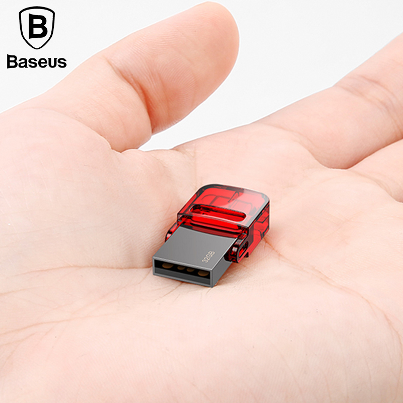 Baseus 32GB OTG USB Flash Drive Portable Mini High Speed USB Type C 32GB Memory Stick for PC Macbook and Type-C Android phones