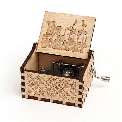 Прямая поставка, черная деревянная музыкальная шкатулка, игра в трон, Caja, музыкальная Zelda, ручная работа, Деревянная Музыкальная Коробка, рождественский подарок - Цвет: godfather-Y