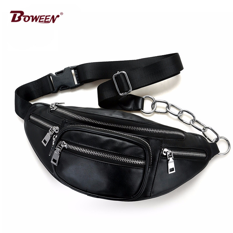 Belt Bag Waist Men Casual Fanny Pack Black Waist Packs for Women Pu Leather High Quality 2018 New Spring Travel Chest Bag Male недорго, оригинальная цена