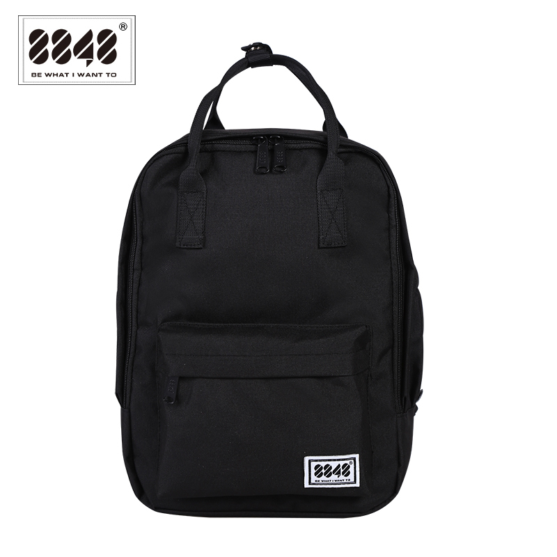8848 Black Backpack Women Preppy School Bags For College Student Oxford Travel Bags Girls Laptop Backpack Mochila 003-008-015 рюкзак 2015 mochila sky 015