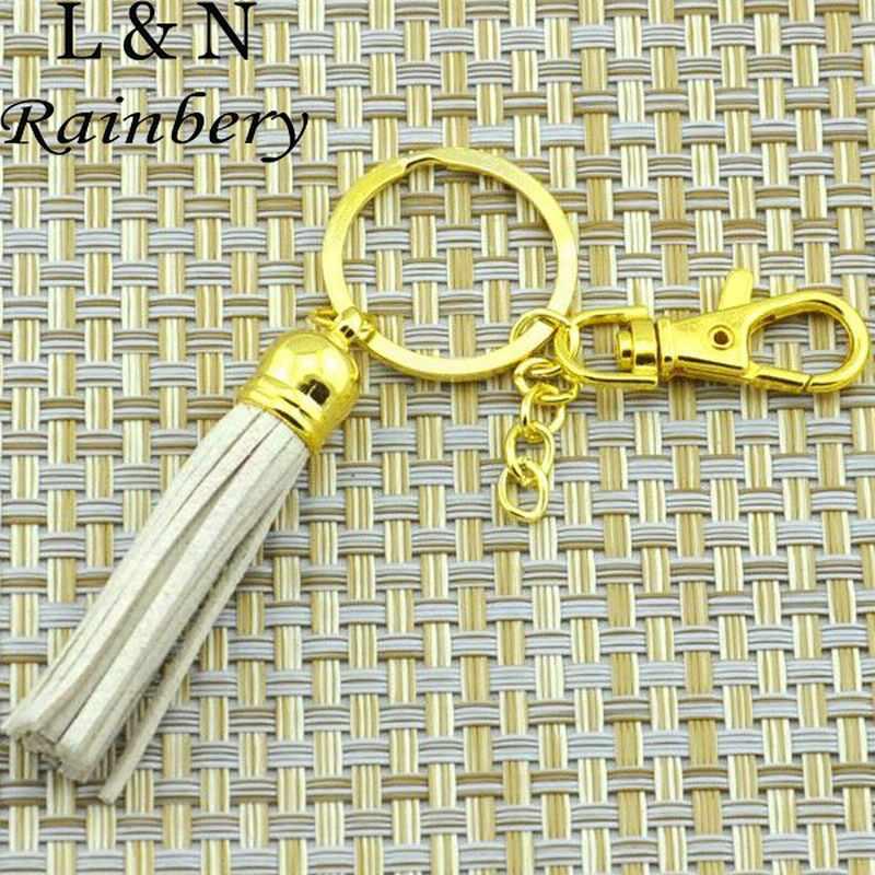 Rainbery 2019 New Gold Keychain Da Bình Thường Tua Phụ Nữ Keychain Túi Mặt Dây Chuyền Xe Hợp Kim Key Chain Vòng Chủ Retro Đồ Trang Sức