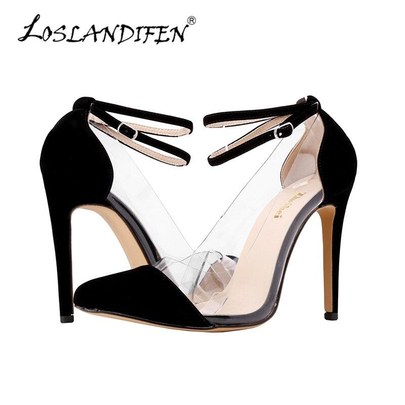 2df7a9d923a LOSLANDIFEN Womens Leather VELVET Mary Jane High Heels Corset Pointed Toe  Party Pumps Ladies Wedding Shoes Size 4-11 302-27A-VE