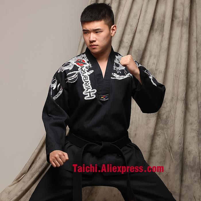 Black High Quality Cotten And Bamboo Fiber ITF Series Of Adult And Children Taekwondo Clothes  Embroidery