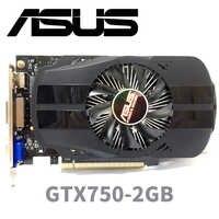 Asus GTX-750-FML-2GB GTX750 GTX 750 2G D5 DDR5 128 bits cartes graphiques pc de bureau PCI Express 3.0 cartes graphiques d'ordinateur