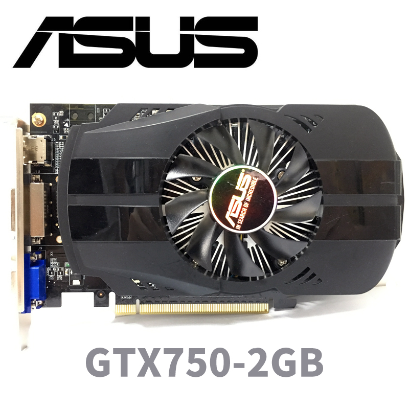 Asus GTX 750 2 GTX-750-FML-2GB GTX750 G D5 DDR5 128 Bit PC Desktop Placas Gráficas PCI Express 3.0 computador Placa Gráfica cartões