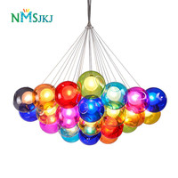 Modern Colorful Glass BallPendant Lights for Dining room restaurant Decoration Light Fixture Luxury Large Pendant Lamp