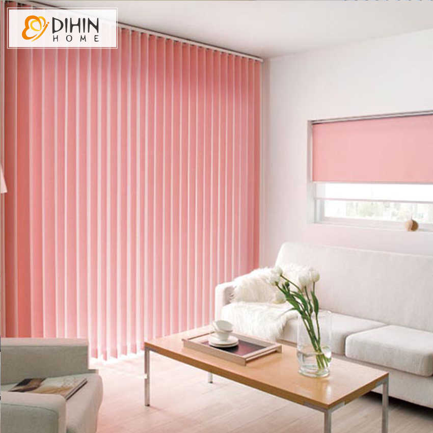DIHIN HOME Blackout Vertical Blinds Window Treatment Custom Made Curtain For Living Room Free Shipping