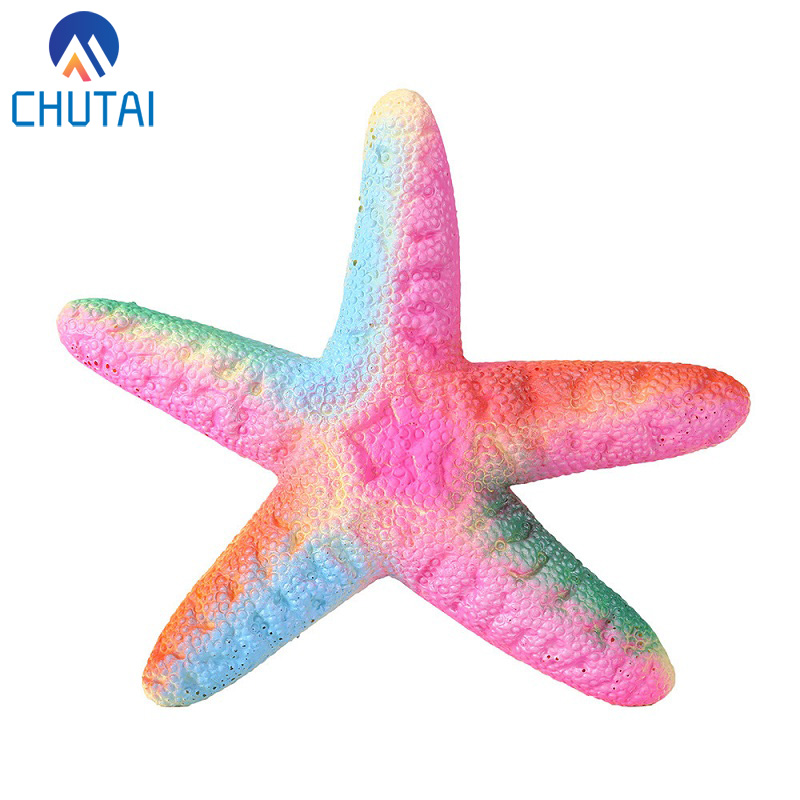 Simulation Starfish Squishy Funny Cute Squishies Slow Rising Super Jumbo Kawaii Animals Stress Reliever Squeeze Toy 19*19*3CM