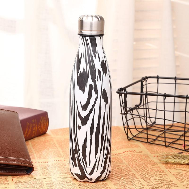 1pcs 500 ml vacuum flask Expansion bottle of water bottle coffer sports kettle vacuum flask electroplating bottle