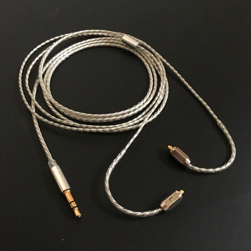 bilder für Hohe Qualität Silber Kopfhörer Upgrade Kabel Für Shure SE535 SE315/215 SE425/846 UE900 Kostenloser Versand