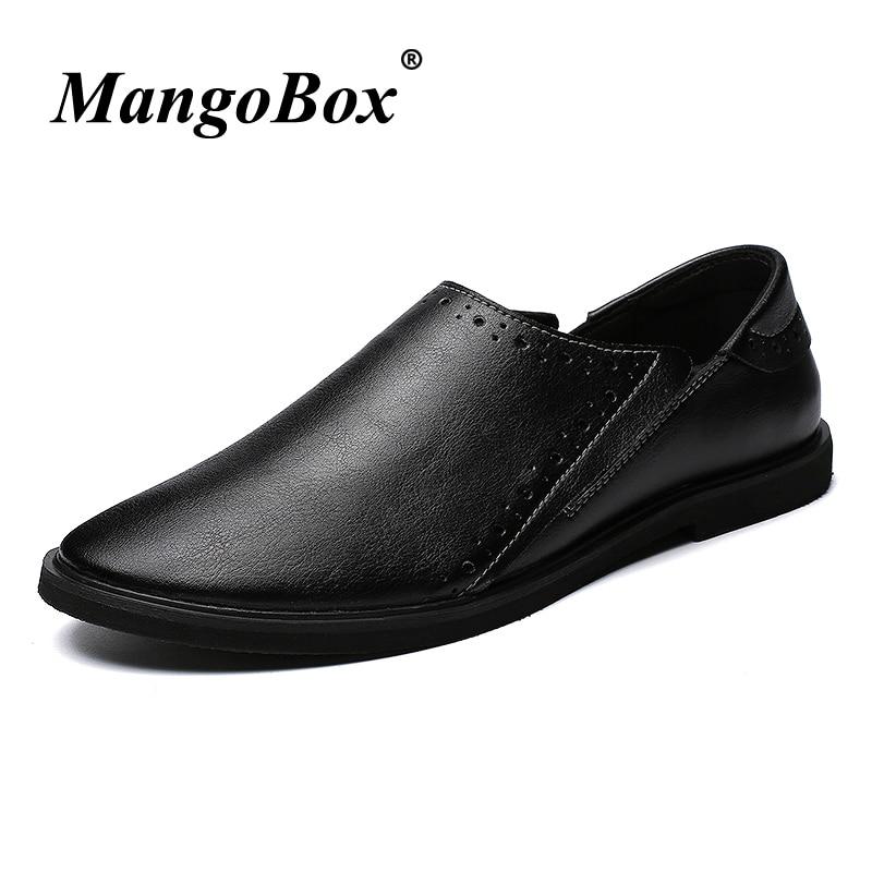 Man Dress Shoes Black Dark Brown Formal Shoes for Man Slip-on Man Business Footwear Spring Summer Anti-slip Social Shoes