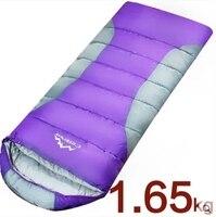 1 65kg Outdoor Camping Cotton Sleeping Bag Synthetic Filler Envelope Cotton Sleeping Bag For Outdoor Camping