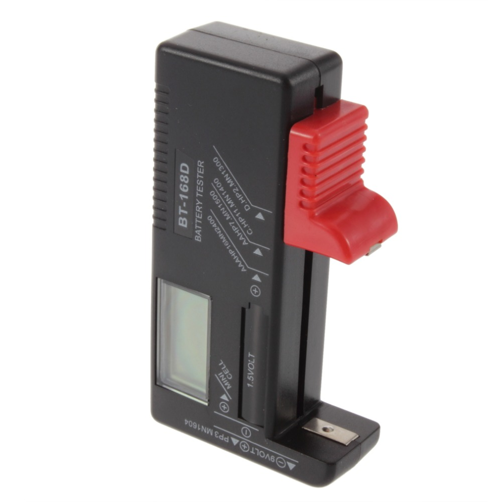 AAA AA Button Cell Rechargeable C D Tester for Battery BT-168D 1.5V 9V