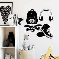 O Transporte da gota Equipamento Esporte Dos Desenhos Animados Mural Art adesivos de Parede Decalques Pvc Diy Decoração Arte Decoração Papel De Parede Poster Para Quartos de Crianças
