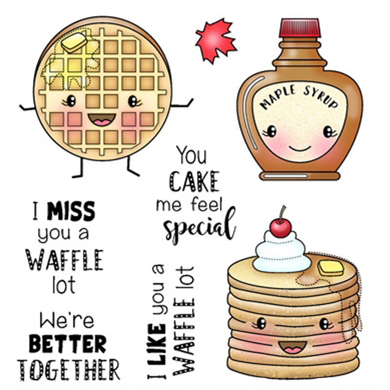 Cute waffles and cakes Transparent Clear Stamps DIY Scrapbooking Album Card Making Decoration Embossing Stencil