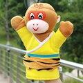 Niños marioneta de mano de dibujos animados muñeca grande guantes rey mono de Peluche marioneta narración de historias