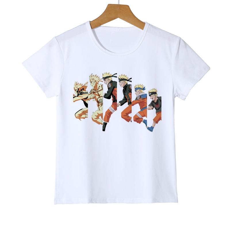 Sasuke Ninjia Naruto Kid Cartoon T-Shirt Anime Akatsuki Uchiha Itachi Sharingan Child Gift Boy Girl Baby T shirt Tee Z38-9