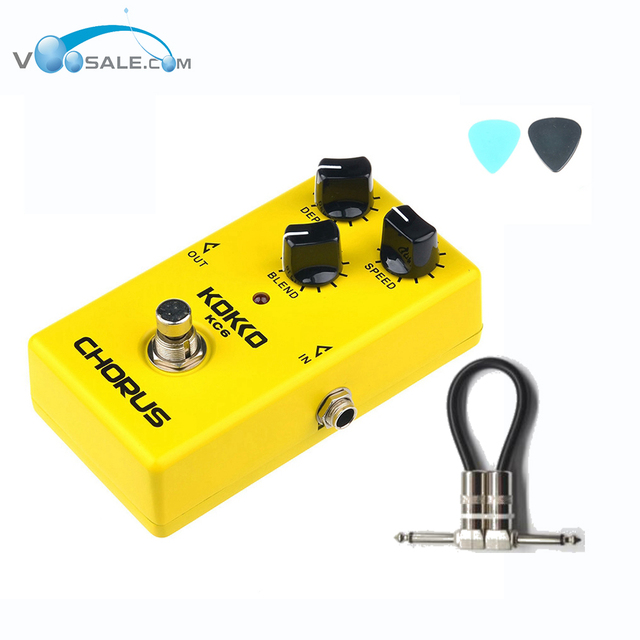 KOKKO KC6  Chorus Electric Guitar Effect Pedal Stompbox Nice Quint Full bodied 12-String Sounds Guitar Accessories+ Free Cable