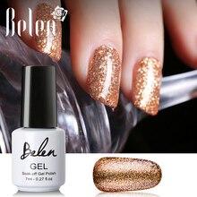 Belen, 7 мл, черный, белый цвет, лак для ногтей, УФ-гель для ногтей, блестящий блеск, Платиновый Лаки, Гель-лак, Полуперманентная эмаль, Гибридный Гель-лак