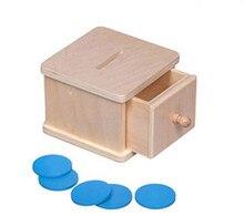 Material Montessori – Caja de madera con fichas