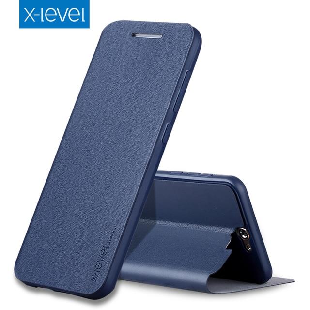 X-уровень pu кожаный раскладной телефон case для htc one a9 роскошный бизнес стиль стенд case cover for htc a9